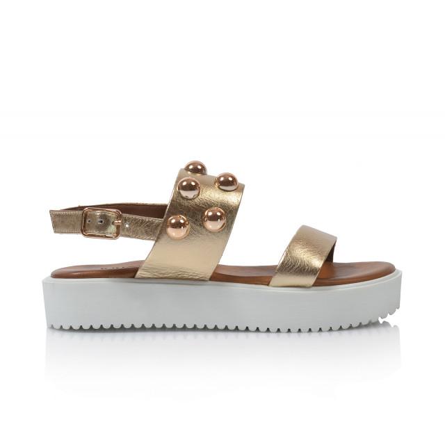 736e6b93a0d6 Dámske sandále na platforme 128016 zlatá - UNISHOES.sk