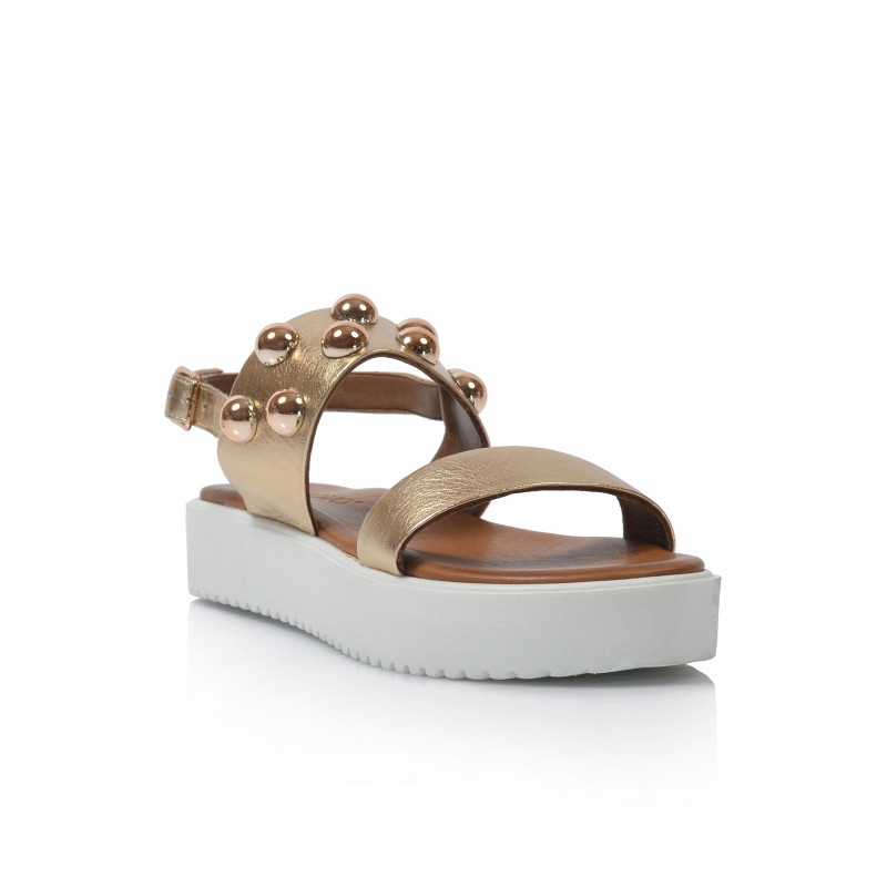 1a50a34e1886 Dámske sandále na platforme 128016 zlatá - UNISHOES.sk