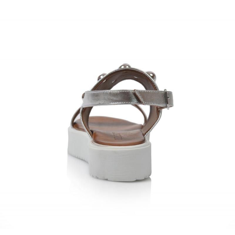 f518a44c9fdb Dámske sandále na platforme 128016 strieborná - UNISHOES.sk