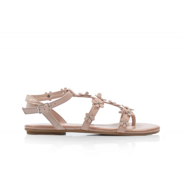 Dámske sandále nízke 7158 puder