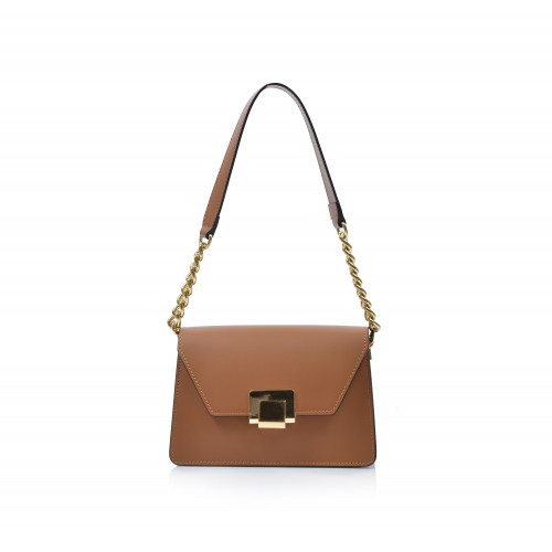 Kabelka kožená klasická 552085 koňaková Florene bags