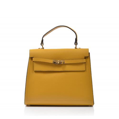 Kabelka kožená klasická 560136 žltá
