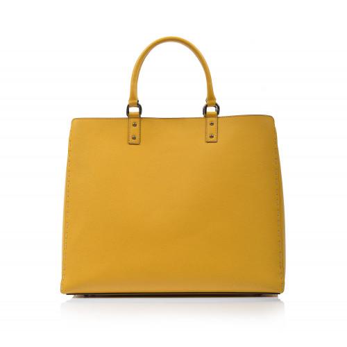 Kabelka kožená klasická 574154 žltá