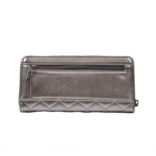 Peňaženka dámska syntetická mm743646 grafitová GUESS
