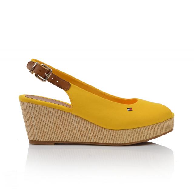 Dámske sandále na platforme fw04788 žltá TOMMY HILFIGER