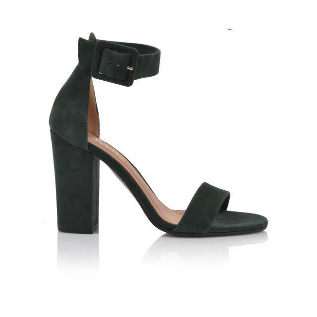 Dámske sandále na podpätku 1826-329 zelená