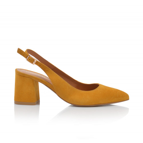 Dámske sandále na podpätku 2263-622 žltá