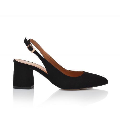 Dámske sandále na podpätku 2263-z-1 čierna