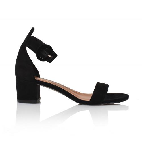 Dámske sandále na podpätku 1713-z-1 čierna
