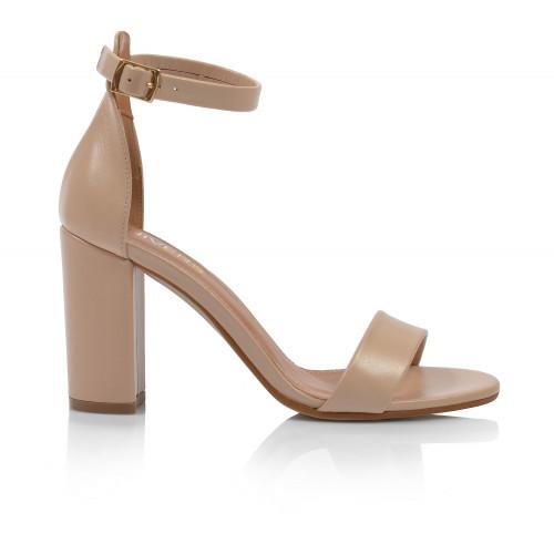 Dámske sandále na podpätku 2309-546 béžová