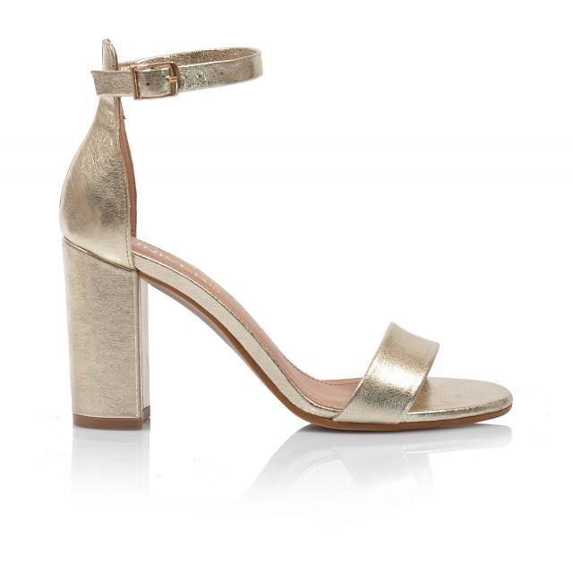 Dámske sandále na podpätku 2309-65 zlatá