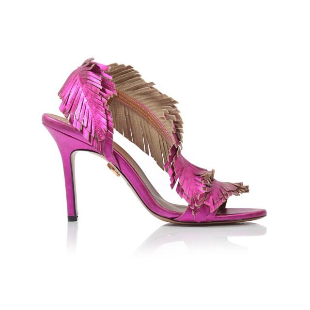 Dámske sandále na podpätku d0151/3436/014 ruzova