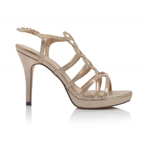 Dámske sandále spoločenské 09614 zlatá