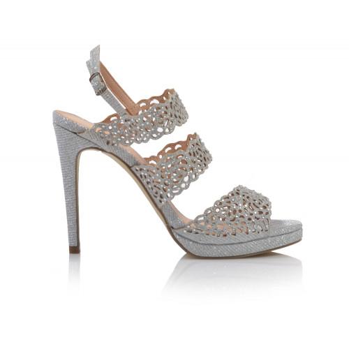 Dámske sandále spoločenské 20460 strieborná