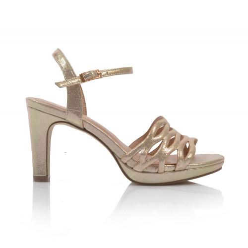 Dámske sandále spoločenské 21507 zlatá