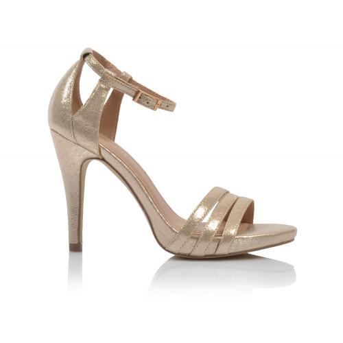 Dámske sandále spoločenské 21817 zlatá