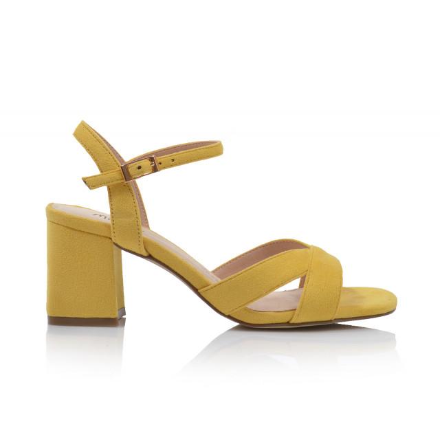 Dámske sandále na podpätku 21862 žltá