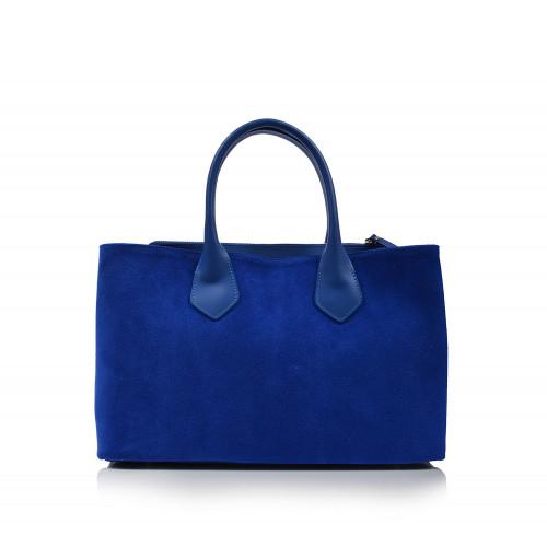 Kabelka kožená klasická 01613   modrá