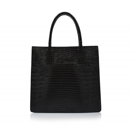Kabelka kožená klasická 00468 čierna