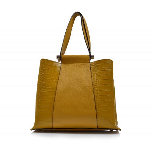 Kabelka kožená klasická 323060 žltá