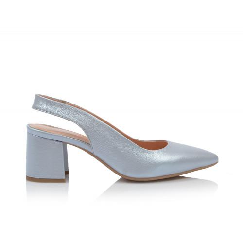 Dámske sandále na podpätku 0431-323 modrá