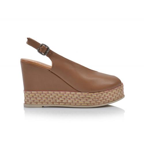Dámske sandále na platforme 20wq5802 béžová