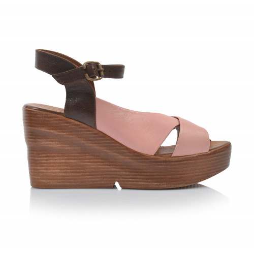Dámske sandále na platforme 20wq6102 ružová