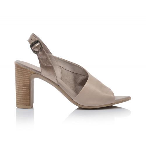 Dámske sandále na podpätku 20wn4304 sivá