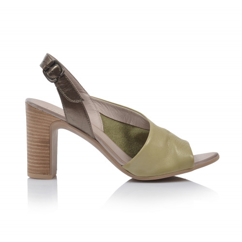 Dámske sandále na podpätku 20wn4304 zelená
