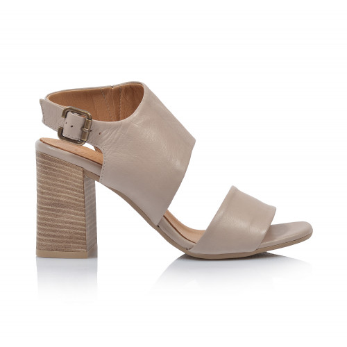 Dámske sandále na podpätku 20wq4607 béžová