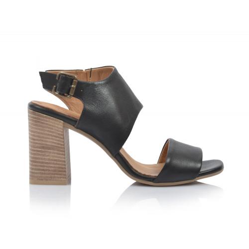 Dámske sandále na podpätku 20wq4607 čierna