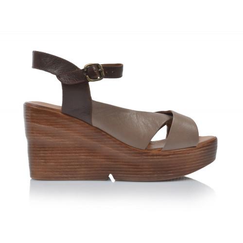 Dámske sandále na platforme 20wq6102 béžová