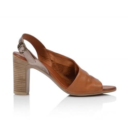 Dámske sandále na podpätku 20wn4304 koňaková