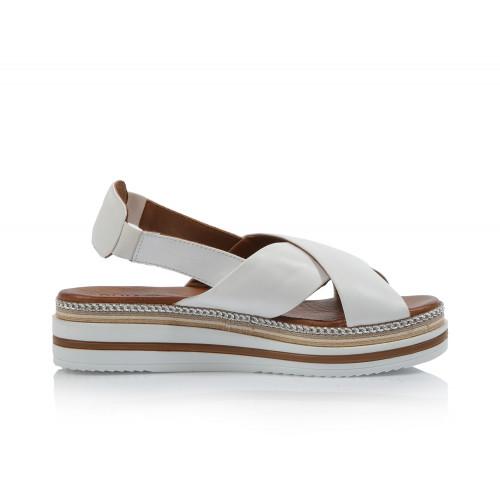Dámske sandále na platforme 20wq1610 biela