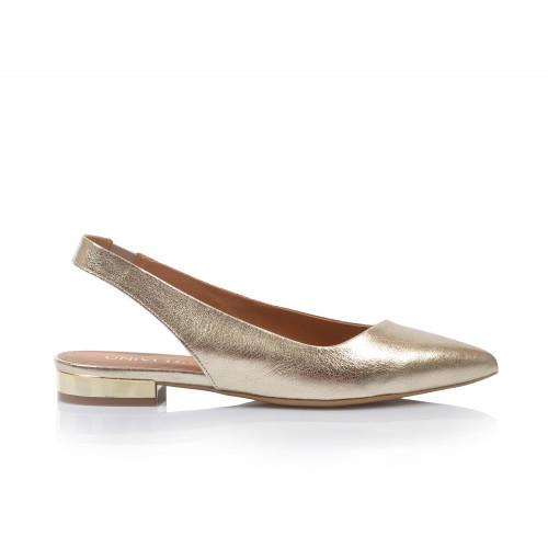 Dámske sandále nízke 2276-65 zlatá