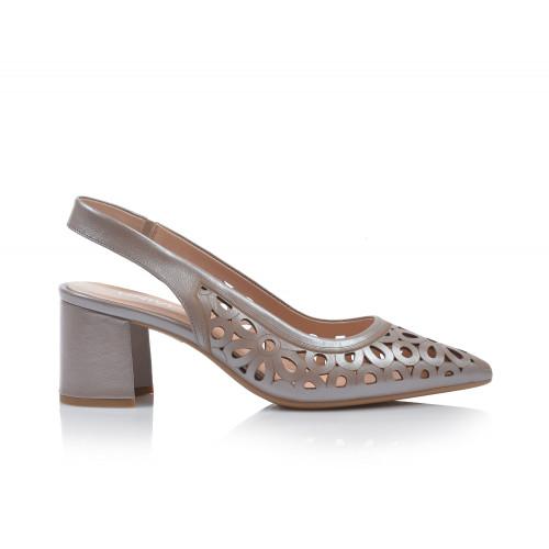 Dámske sandále na podpätku 0431-tn08 béžová